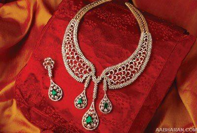 Diamond Necklace Sets From Tribhovandas Bhimji Zaveri jewellers
