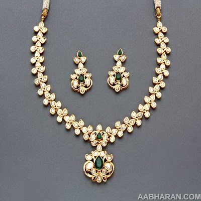 Polki Necklace Sets From Mangatrai Indian Jewellery Designs