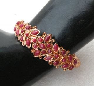 Gold Ruby Bangles