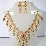 Uncut Diamond Necklace Set