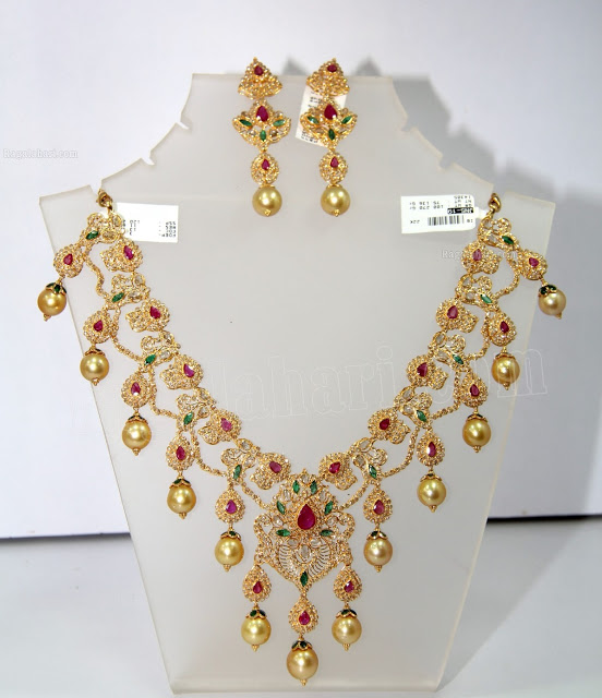 Uncut Diamond Necklace Sets With Price Uncut Diamond Necklace Set