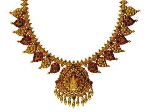Antique Gold Short Necklace