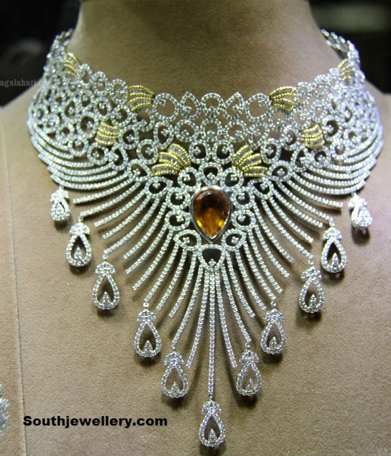 Bridal Diamond Necklace Collection at Gehena Jewellery and Bridal Exhibition