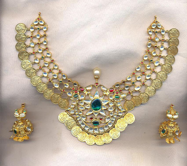 Kundan Kasu Necklace