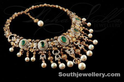 Diamond necklace by Neha Lulla Jewellery
