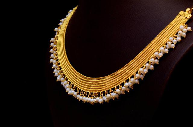 Kasavu Mala by Bhima Jewellers