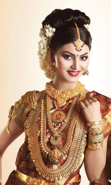 Model in Traditional Jewellery