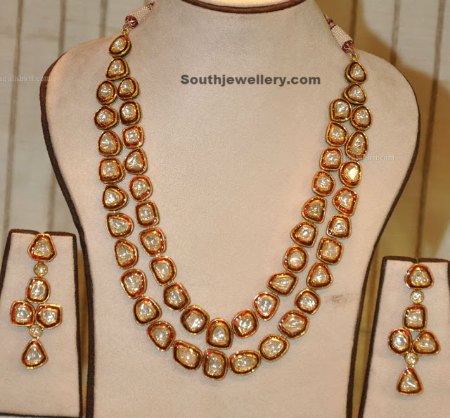 Kundan Long Chain and Earrings