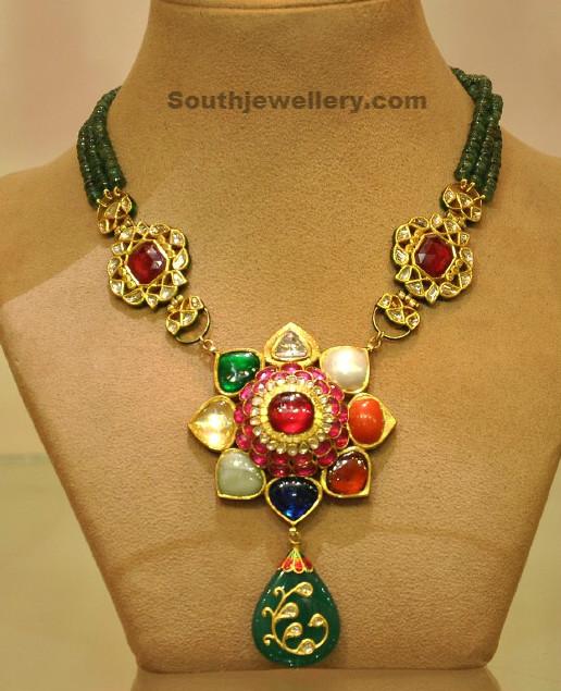 Beads Navratan Necklace