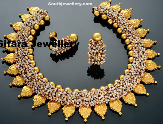 Unique Pearls necklace by Sitara Jewellers