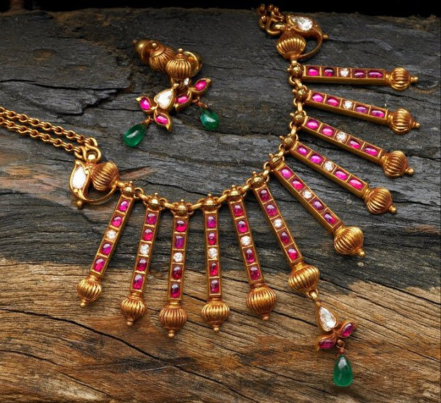Burmese Ruby Jewellery By Arnav Jewellery Designs