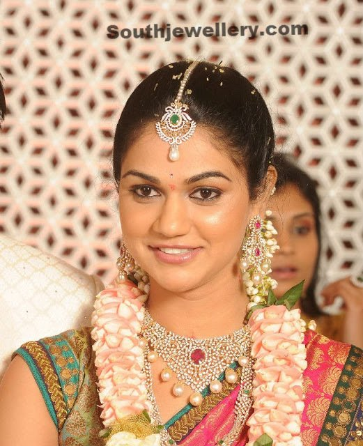 Sneha Reddy in Diamond Jewellery