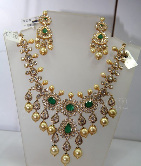 Heavy Uncut Diamond Necklace - Jewellery Designs