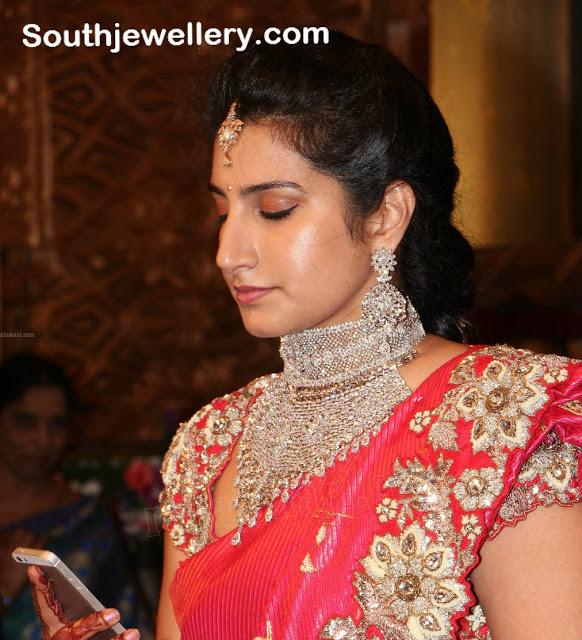 Brahmini in Heavy Diamond Necklace Set