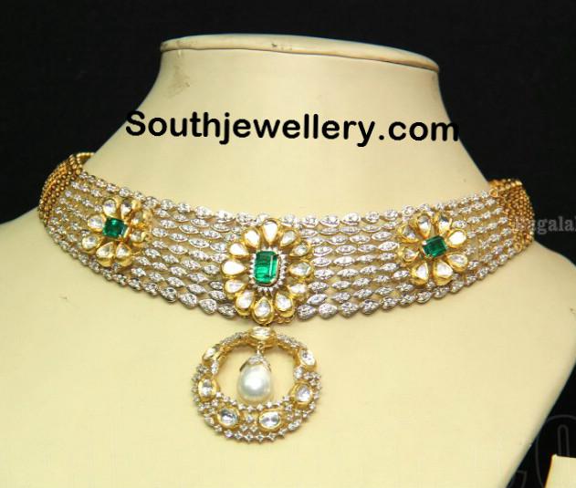 Dazzling Diamond Kundan Necklace