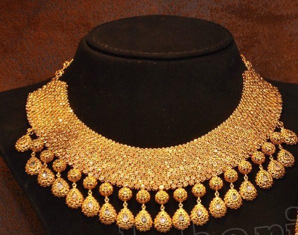 Heavy Uncut Diamond Necklace Indian Jewellery Designs