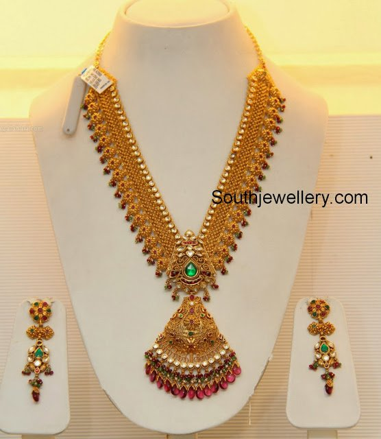 f2ec88b285e2a Bridal Gold Necklace by GRT Jewellers - Jewellery Designs