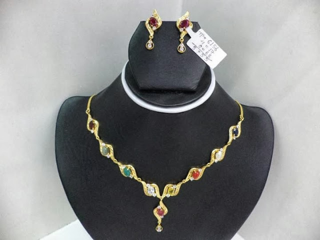 Navaratna Necklace Set