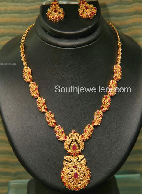 uncut diamond necklace by grt jewellers jewellery designs