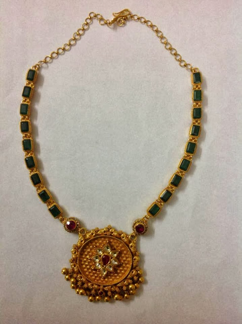 Emerald necklace with gold pendant jewellery designs emerald necklace with gold pendant aloadofball Image collections