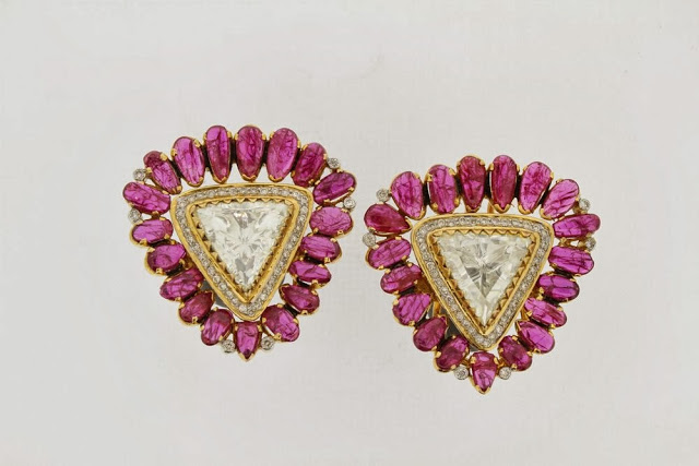 Beautiful Diamond and Ruby Tops