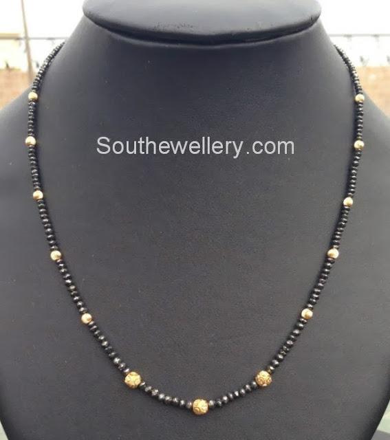Simple Black Diamonds Necklace