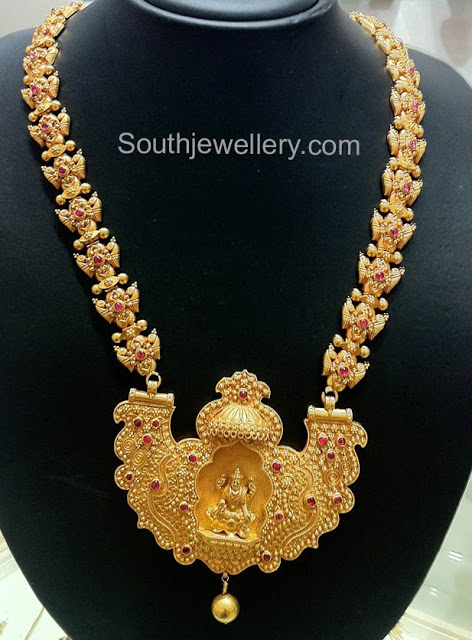 Traditional Temple Jewellery with Lakshmi Pendant
