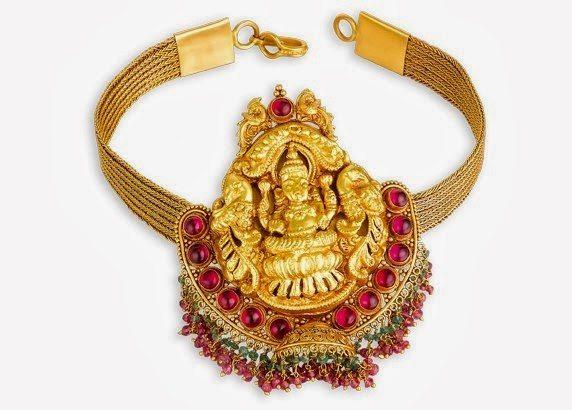 Gold Lakshmi Armlet