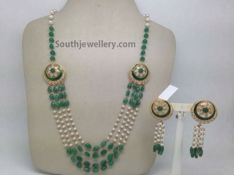 emerald and pearls ncklace