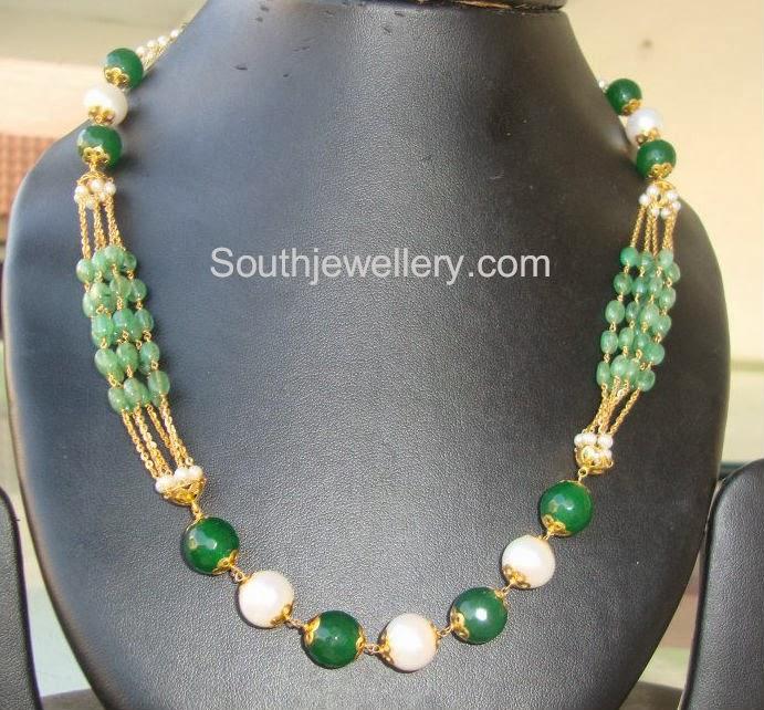 gold beads mala