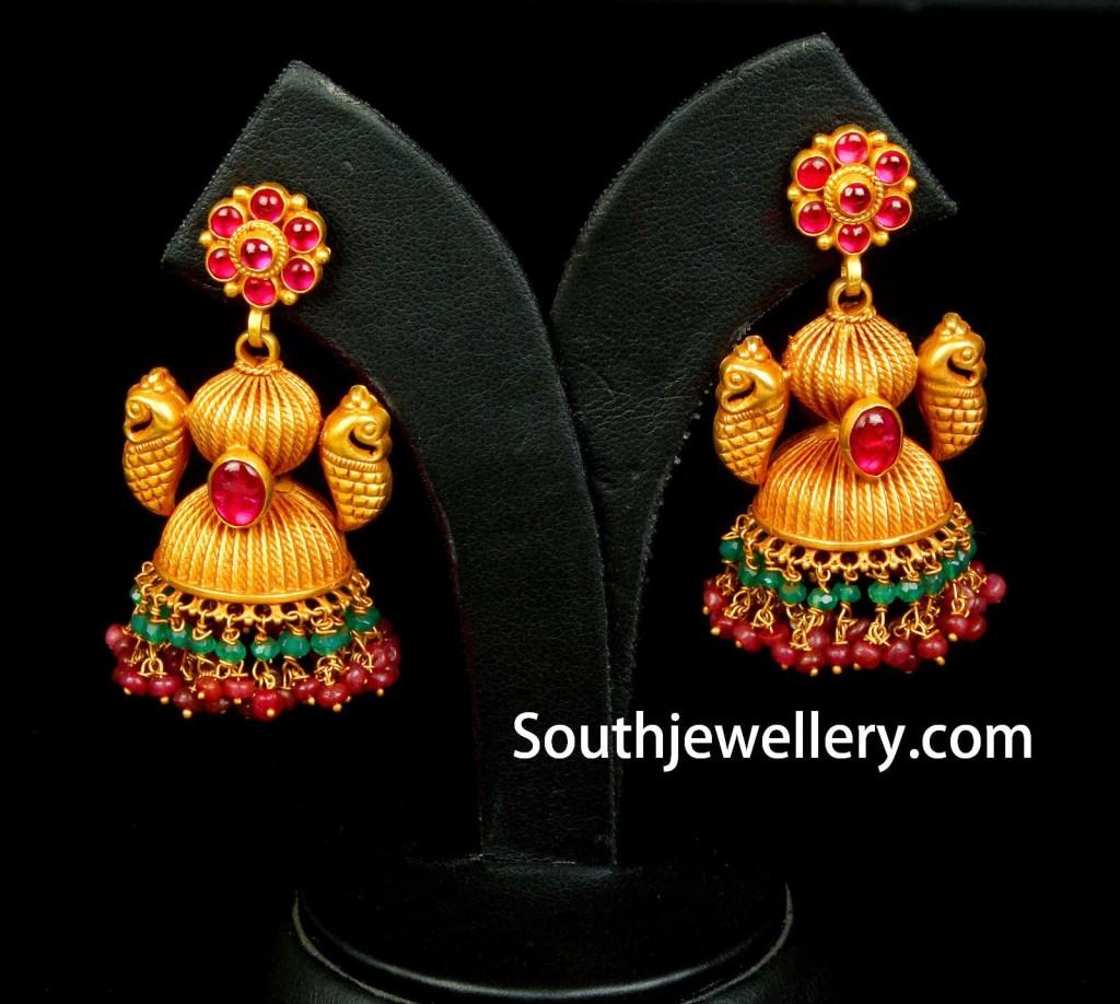 latest gold jhumki designs