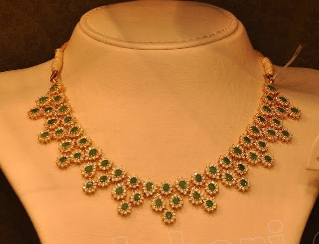 Emeralds and Diamonds Necklace