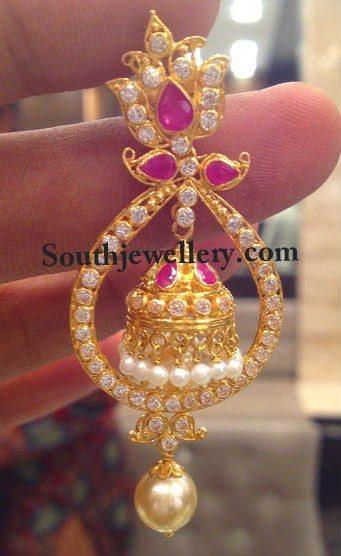 chandbali earrings gold