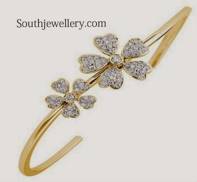 simple gold diaomnd bracelet