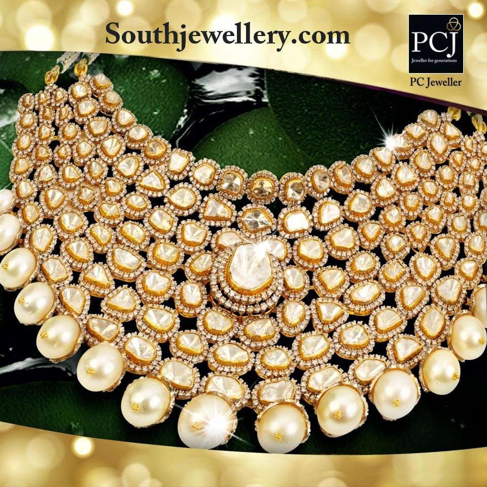 diamond kundan necklace