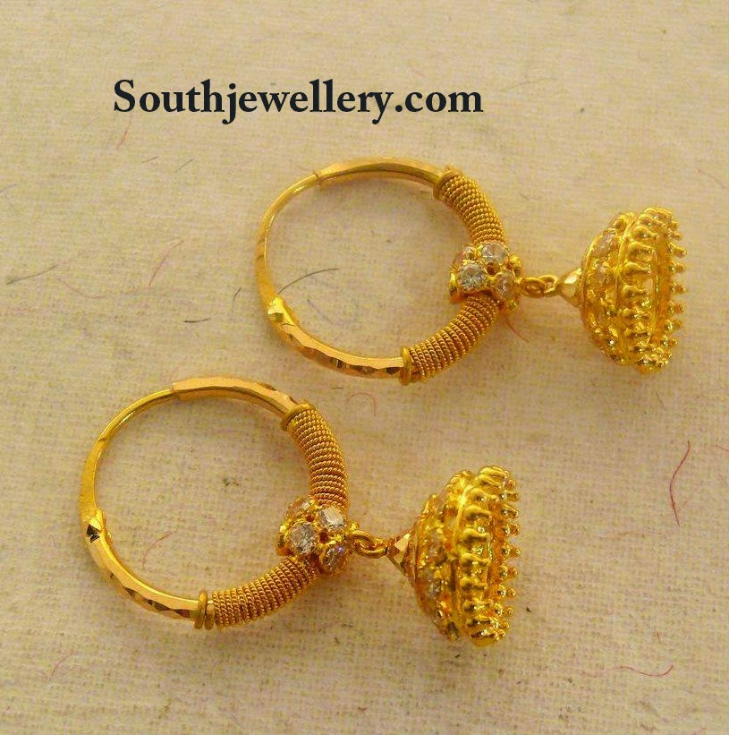 Kids Gold Jhumkas Jewellery Designs