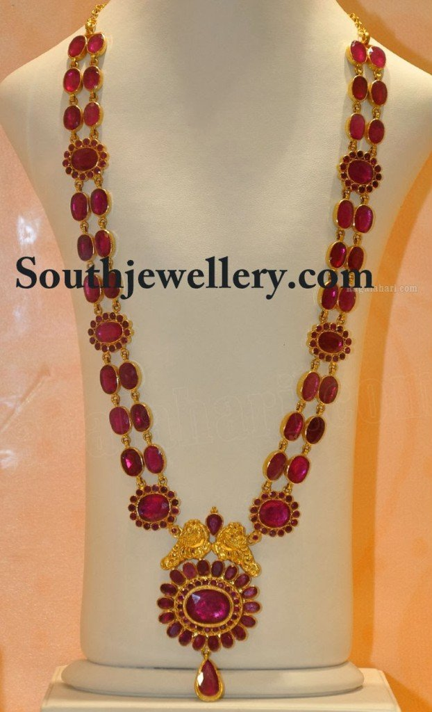 Ruby Long Chain Latest Jewelry Designs Page 9 Of 10