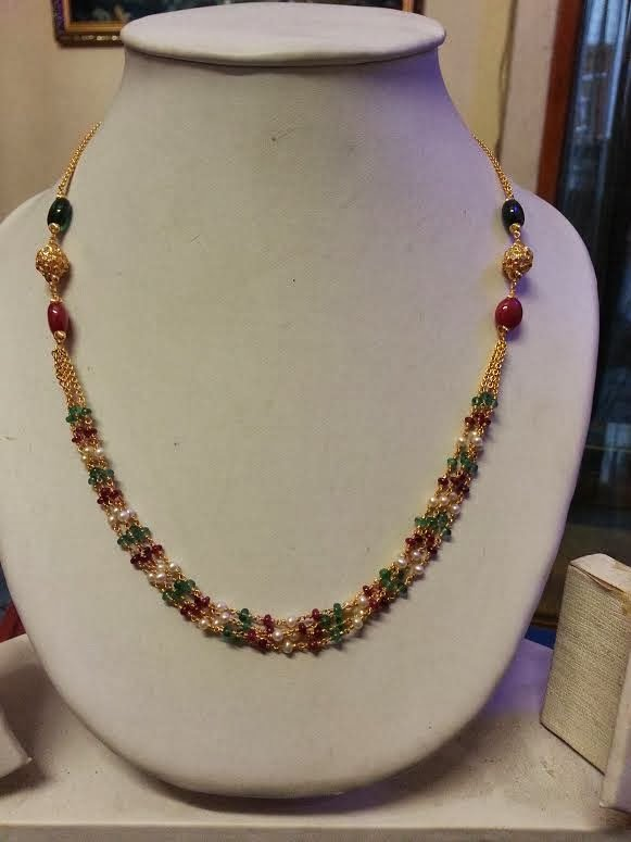 13 Grams Beads Necklace Indian Jewellery Designs