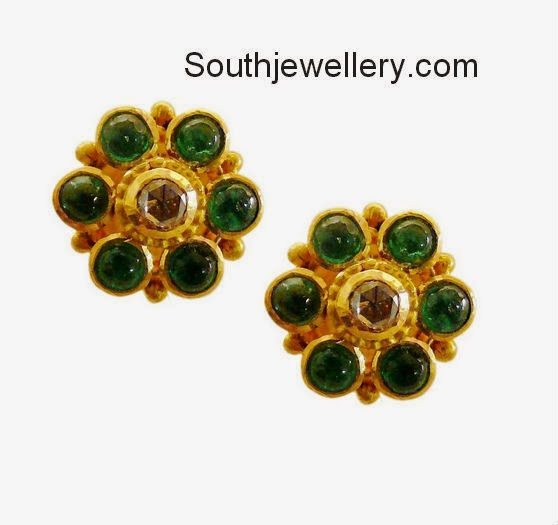 emeralds studs