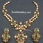 Flat Diamonds Pachi Necklace Set