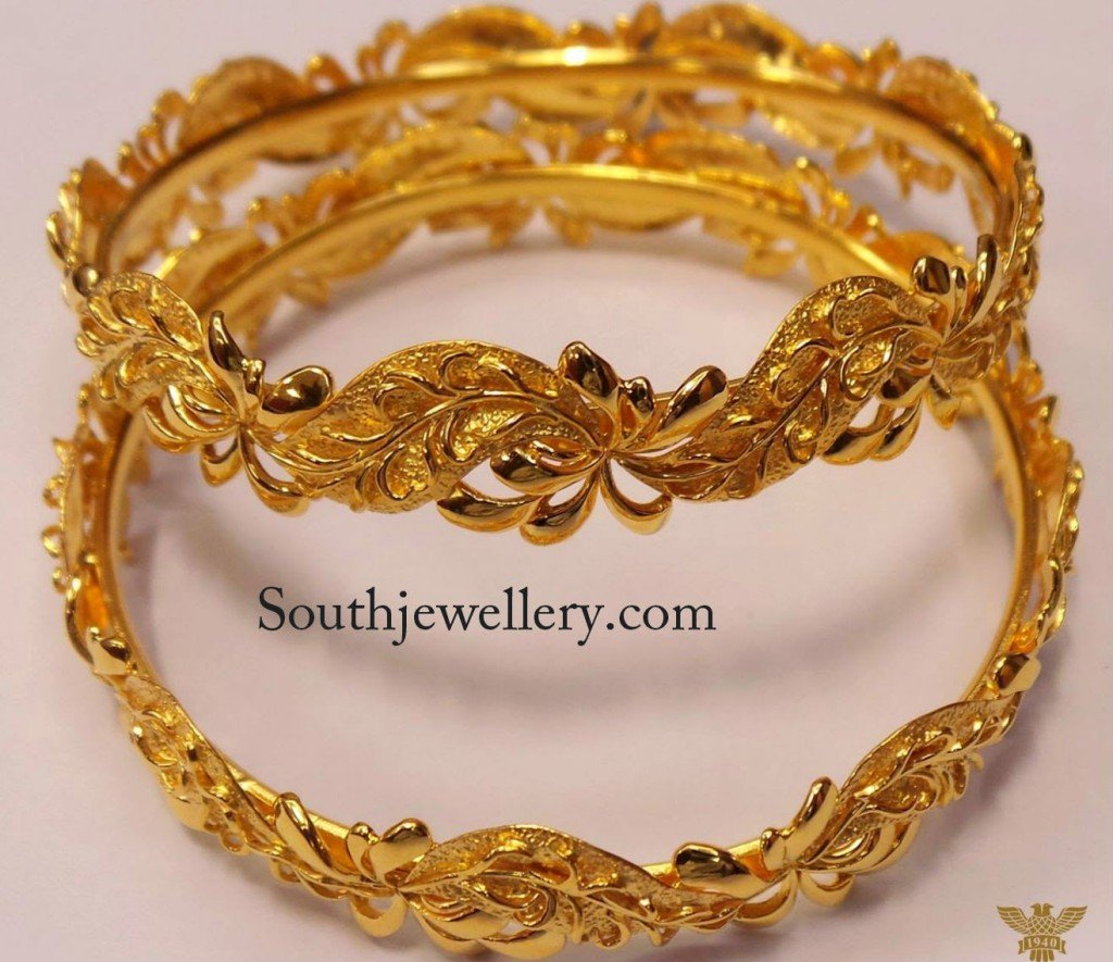 latest indian gold bangles