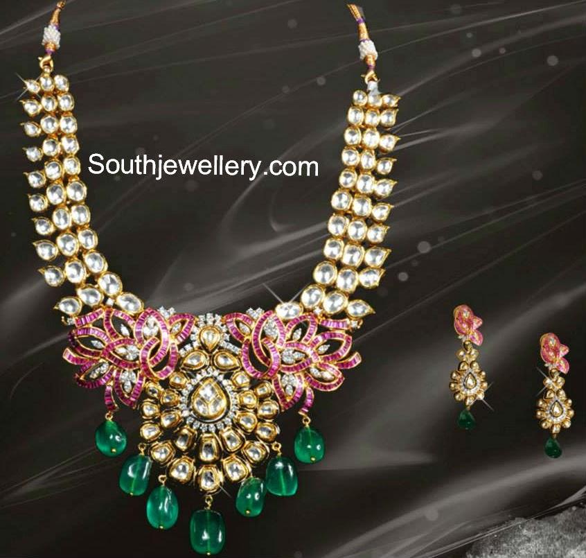 latest kundan necklace designs 2014