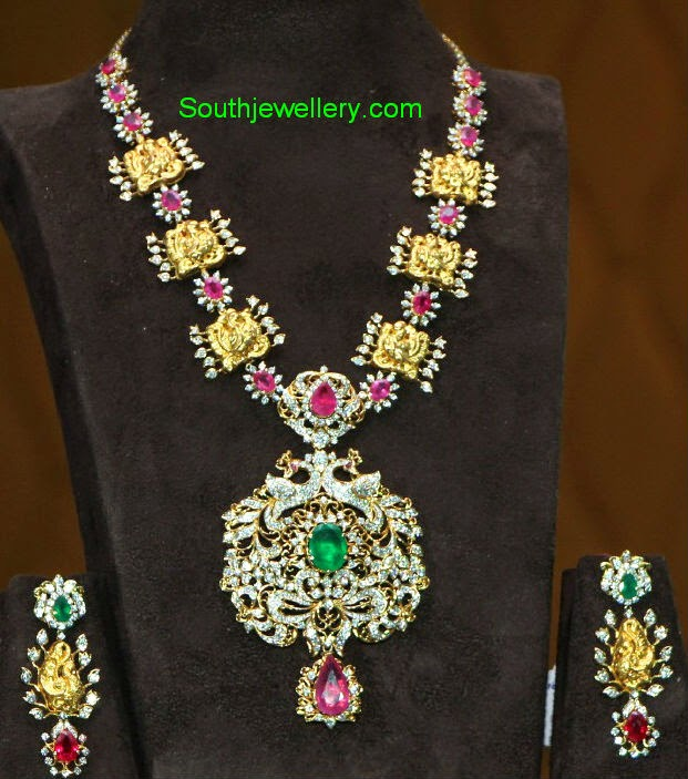 stylish gold and diamond necklace designs