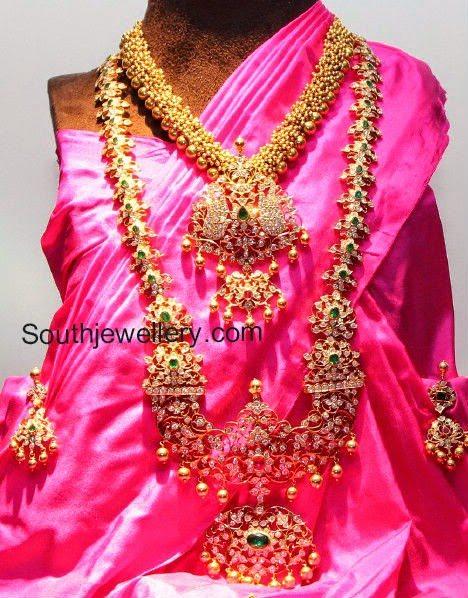 latest indian diamond vaddanam designs