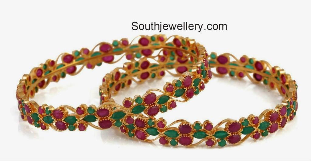 ruby emerald bangles 2014