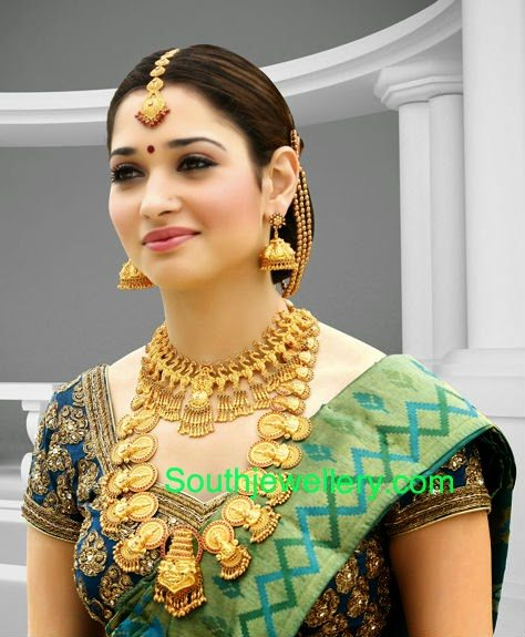 Tamanna In Traditional Gold Jewellery