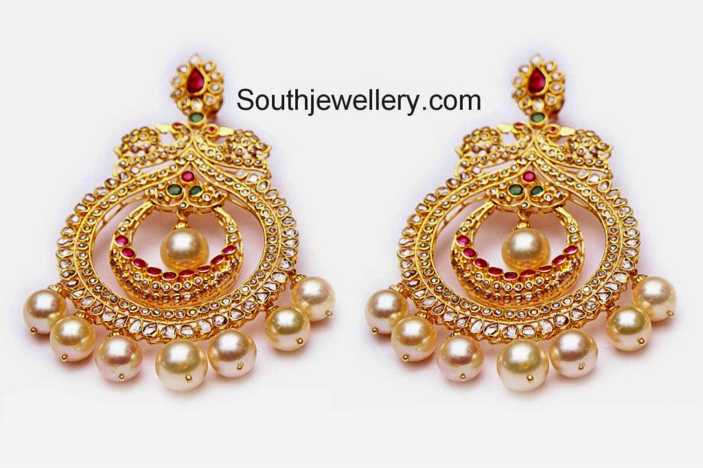 uncut diamond heavy earrings