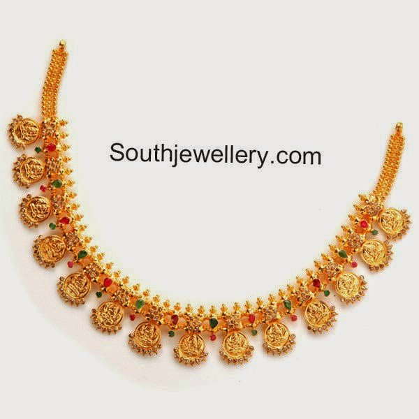 uncut diamond kasu necklace