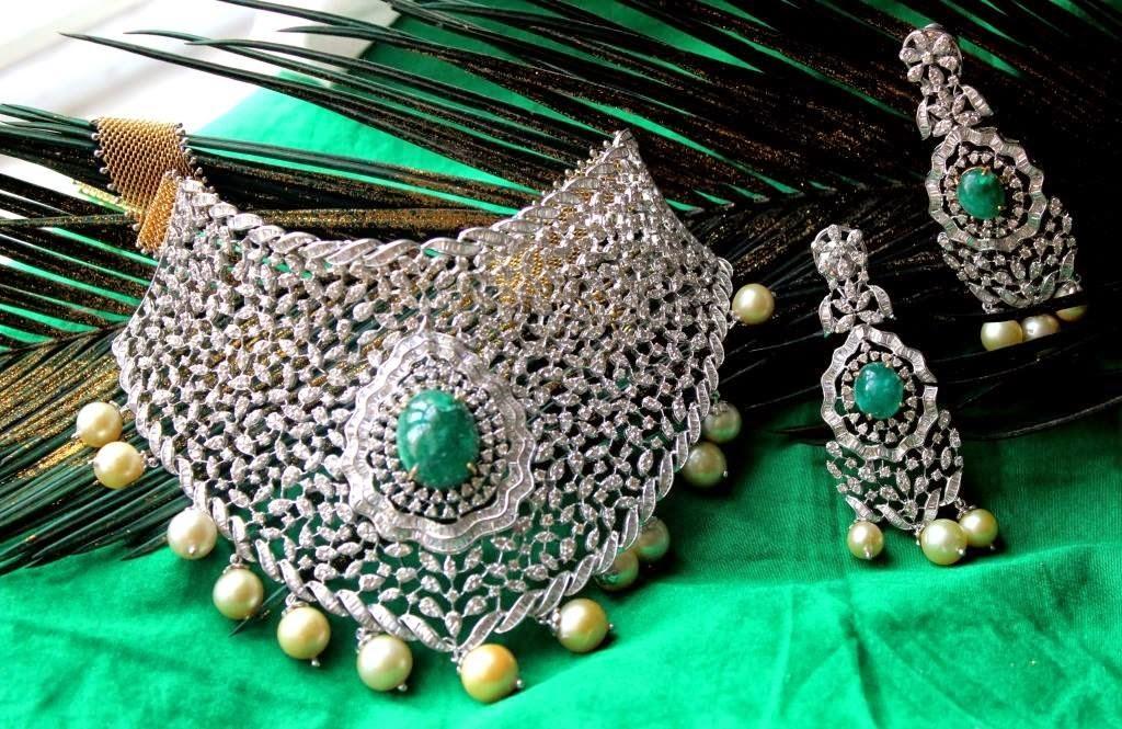 latest indian diamond choker designs