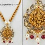 Gold Balls Neclace with Ganesh Pendant